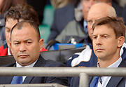 2005 Rugby, Investec Challenge, England vs Australia, Wallabies National Coach Eddie Jones [left] and Assistant coach, Alan Gaffney  prior to the start of the game.  RFU Twickenham, ENGLAND:     12.11.2005   © Peter Spurrier/Intersport Images - email images@intersport-images..