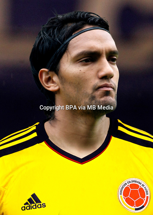 Football Fifa Brazil 2014 World Cup Matchs / South America - Group Matches /<br /> Paraguay vs Colombia 1-2  ( Defensores del Chaco Stadium-Asuncion ,Paraguay )<br /> Abel Aguilar of Colombia ,  during the match between Paraguay and Colombia