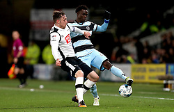 Idrissa Sylla of Queens Park Rangers takes on Richard Keogh of Derby County - Mandatory by-line: Robbie Stephenson/JMP - 31/03/2017 - FOOTBALL - iPro Stadium - Derby, England - Derby County v Queens Park Rangers - Sky Bet Championship