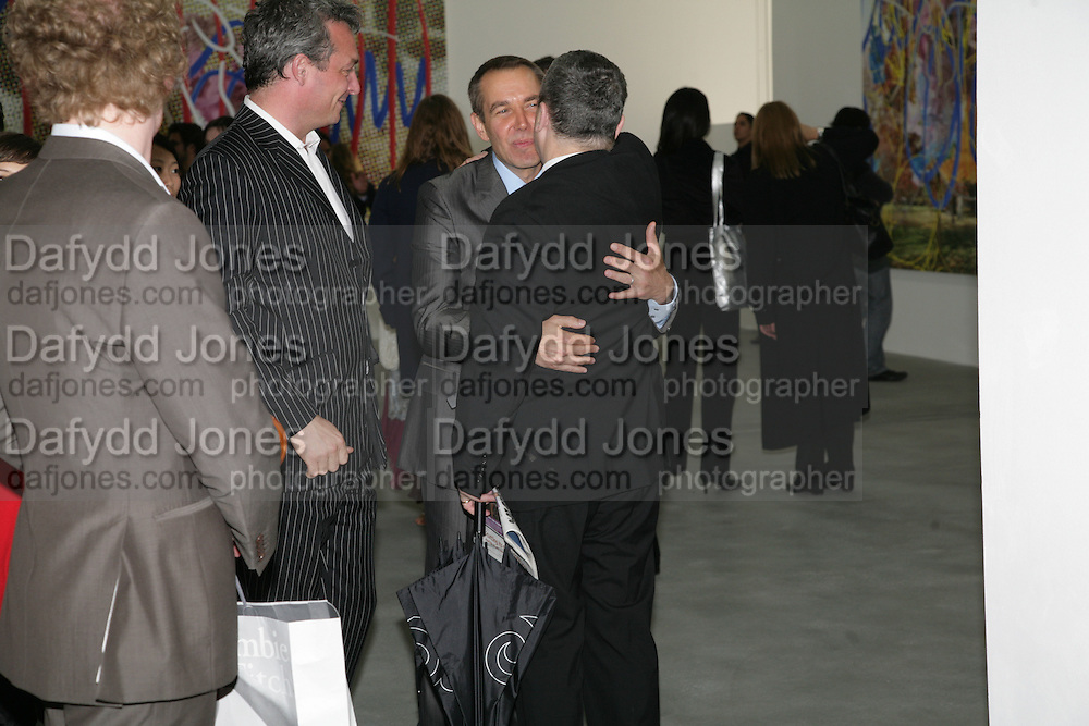 Jeff Koons and Norman Rosenthall, Jeff Koons: Hulk Elvis. private view. Gagosian Gallery. 18 1une 2007.  -DO NOT ARCHIVE-© Copyright Photograph by Dafydd Jones. 248 Clapham Rd. London SW9 0PZ. Tel 0207 820 0771. www.dafjones.com.