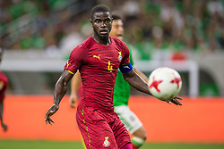 June 28, 2017: Ghana defender Jonathan Mensah (4) controls the ball during the 2nd half of an international soccer friendly match between Mexico and Ghana at NRG Stadium in Houston, TX. Mexico won the game 1-0...Trask Smith/CSM(Credit Image: © Trask Smith/CSM via ZUMA Wire)