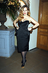 CHARLOTTE DELLAL at Chaos Point - a fashion show from Viienne Westwood's Gold Label Collection in aid of the NSPCC at The Banqueting House, London SW1 on 18th November 2008.