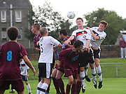 Dundee's Calvin Colquhoun and Matty Allan attack a corner  - North End v Dundee XI, pre season friendly at North End Park<br /> <br />  - &copy; David Young - www.davidyoungphoto.co.uk - email: davidyoungphoto@gmail.com