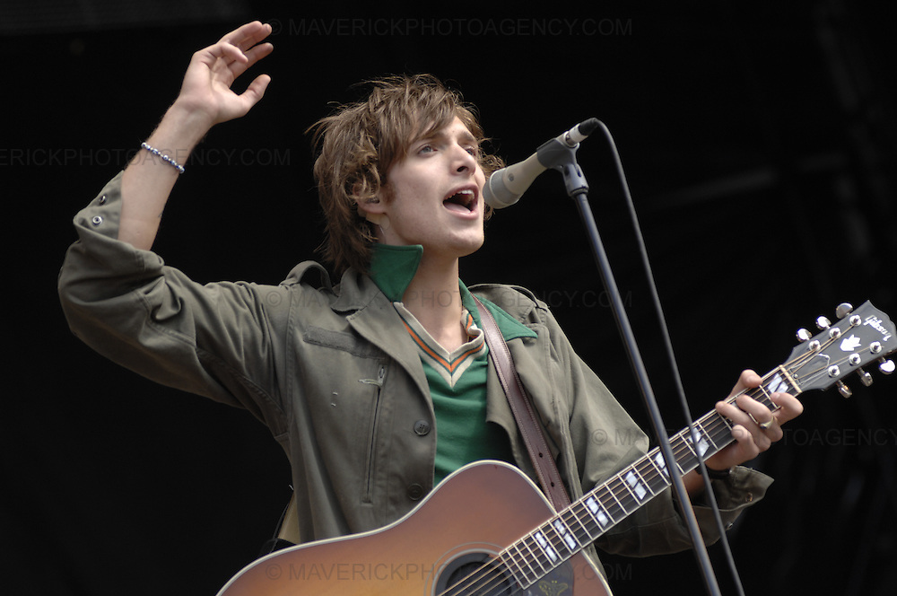 BALADO, KINROSS, SCOTLAND - JULY 8th 2007: Pablo Nutini performs live at T in the Park 2007.