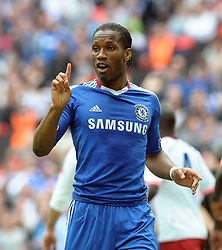 Wembley FA Cup Final Chelsea v Portsmouth  (1-0) 15/05/2010.Number 1 -  Match winner Didier Drogba  (Chelsea).