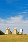 Grain elevators <br /> Mossleigh<br /> Alberta<br /> Canada