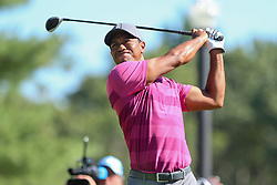 September 1, 2018 - Norton, Massachusetts, United States - Tiger Woods tees off the 10th hole during the second round of the Dell Technologies Championship. (Credit Image: © Debby Wong/ZUMA Wire)