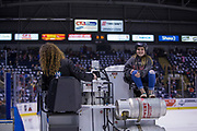 KELOWNA, CANADA - MARCH 14:  Orchard Park Zamboni Rider at the Kelowna Rockets game on March 14, 2018 at Prospera Place in Kelowna, British Columbia, Canada.  (Photo By Cindy Rogers/Nyasa Photography,  *** Local Caption ***