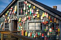 Lobster Buoys, Thurstons Lobster Pound, Bernard, Maine