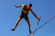 George TURNER competes in the Men's Pole Vault Final during the Muller British Athletics Championships at Alexander Stadium, Birmingham, United Kingdom on 24 August 2019.