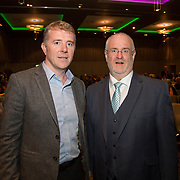 10.10. 2017.          <br /> Pictured at the Limerick Going for Gold 2017 finals in the Strand Hotel were, Robert McKillican, Stryker Ireland and Roger Beck, Parkway Shopping Centre.<br /> <br /> <br /> Limerick Going for Gold, which is sponsored by the JP McManus Charitable Foundation, has a total prize pool of over €75,000.  It is organised by Limerick City and County Council and supported by Limerick's Live 95FM, The Limerick Leader and The Limerick Chronicle, The Limerick Post, Parkway Shopping Centre, I Love Limerick and Southern Marketing Media & Design. Picture: Alan Place