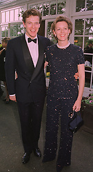 MR & MRS JAMES OGILVY he is the son of Princess Alexandra, at a reception in London on 6th June 1998.MIB 74