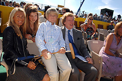 The HON.CHARLES & MRS PEARSON and their children CORINTHIA PEARSON and GEORGE PEARSON at the final of the Veuve Clicquot Gold Cup 2007 at Cowdray Park, West Sussex on 22nd July 2007.<br />