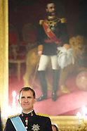 071714 King Felipe VI of Spain Meeting with Several Ambassadors