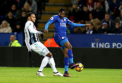 Ahmed Musa of Leicester City beats Matt Phillips of West Bromwich Albion to the ball - Mandatory by-line: Robbie Stephenson/JMP - 06/11/2016 - FOOTBALL - King Power Stadium - Leicester, England - Leicester City v West Bromwich Albion - Premier League