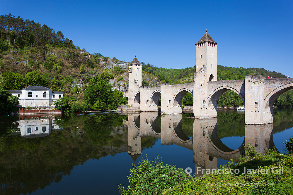 Valentre bridge in Cahors, Lot department, Occitanie, France