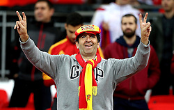 A Spain fan at Wembley correctly predicts the final score between his side and England - Mandatory by-line: Robbie Stephenson/JMP - 15/11/2016 - FOOTBALL - Wembley Stadium - London, United Kingdom - England v Spain - International Friendly