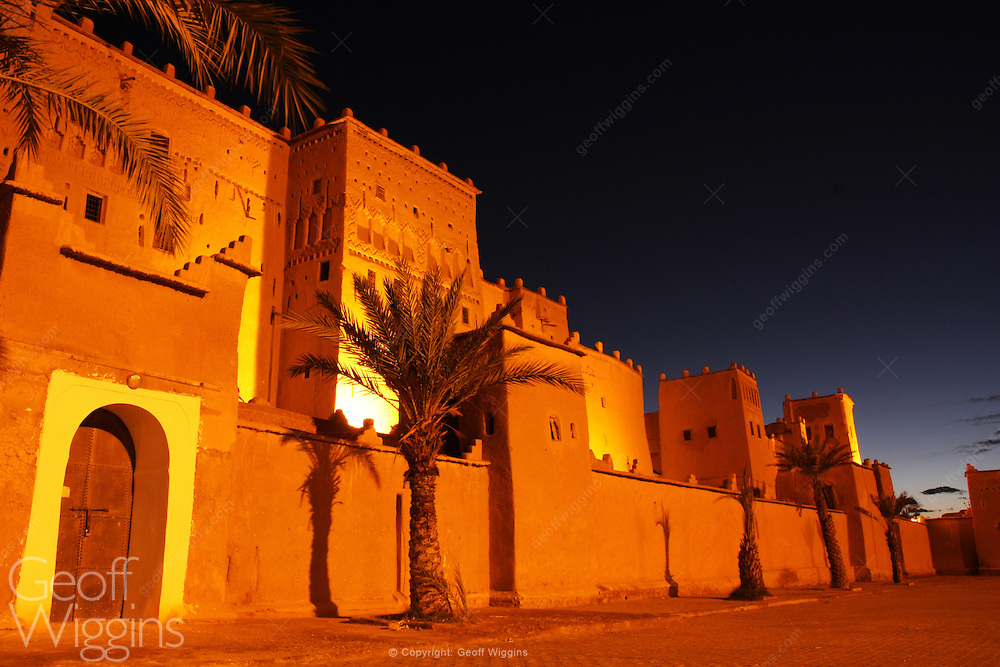 "Kasbah Taourirt in eastern Ouarzazate ""The door of the desert"", in the Souss-Massa-Drâa of southern-central Morocco."