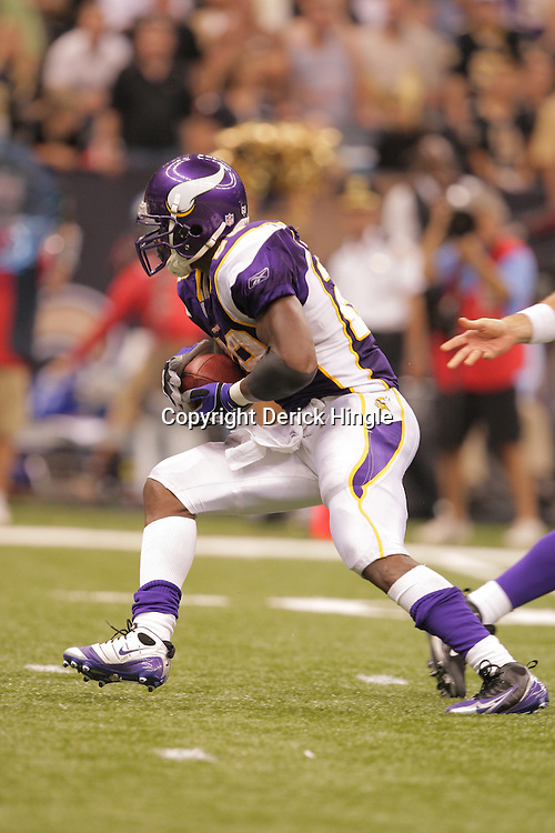 2008 October, 06: Minnesota Vikings running back Adrian Peterson (28) in action during a week five regular season game between the Minnesota Vikings and the New Orleans Saints for Monday Night Football at the Louisiana Superdome in New Orleans, LA.
