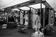 18/04/1966<br /> 04/18/1966<br /> 18 April 1966<br /> Stands and Models at the 3rd Irish Export Fashion Fair at the Intercontinental Hotel, Dublin. The St. Patrick's Wollen Mills Ltd and Carbery Handwoven Tweeds Ltd. stand at the Fair.