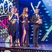 NLD/Hilversum/20171009 - Finale Miss Nederland 2017, Kim Kotter, Zoey Ivory, Koos van Plateringen