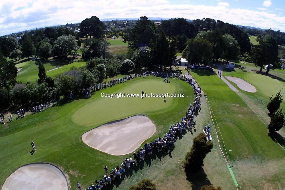 Birds eye view on day three of Telstra Saturn New Zealand Golf Open, 20 January, 2001 at The Grange, Papatoetoe. Photo:Dean Treml/PHOTOSPORT *** Local Caption ***