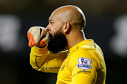 Tim Howard of Everton wipes his nose - Photo mandatory by-line: Rogan Thomson/JMP - 07966 386802 - 30/11/2014 - SPORT - FOOTBALL - London, England - White Hart Lane - Tottenham Hotspur v Everton - Barclays Premier League.