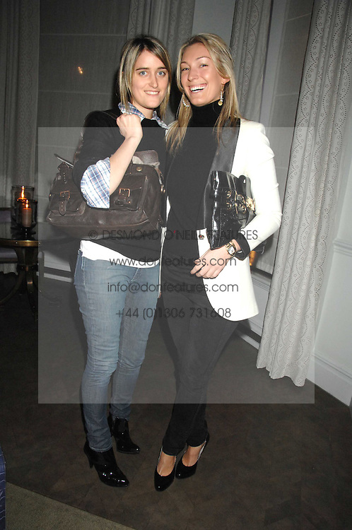 Left to right, VIOLET VON WESTENHOLTZ and OLIVIA BUCKINGHAM at a party to promote The Landau at The Langham, Portland Place, London W1 on 7th February 2008.<br /><br />NON EXCLUSIVE - WORLD RIGHTS