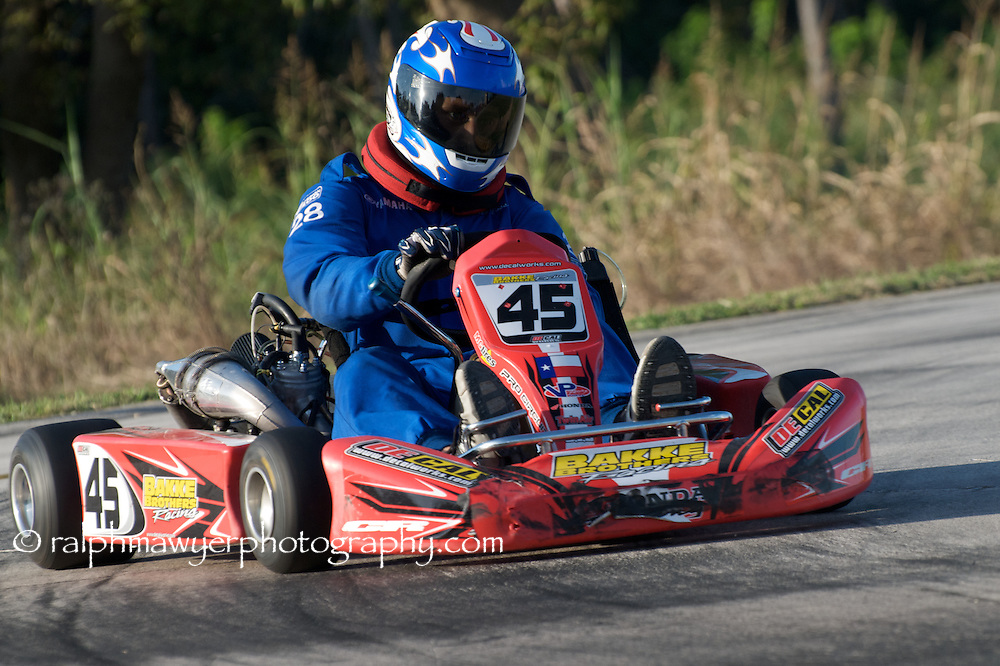 Racing at the Hill Country Kart Club's bi-monthly races in New Braunfels, Texas