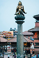 Early evening at Durbar Square in Patan, Nepal.