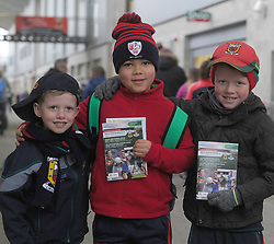 Micheal and Eoin Donnelly with James Duffy pictured at the Mayo v Dublin league match at McHale park.<br /> Pic Conor McKeown