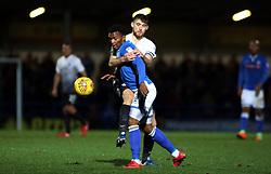 Jack Baldwin of Peterborough United gets to grips with Kgosi Ntlhe of Rochdale - Mandatory by-line: Joe Dent/JMP - 25/11/2017 - FOOTBALL - Crown Oil Arena - Rochdale, England - Rochdale v Peterborough United - Sky Bet League One