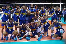 ITALIA ESULTA<br /> <br /> Italy vs Slovenia<br /> Volleyball men's world championship <br /> Florence September 18, 2018