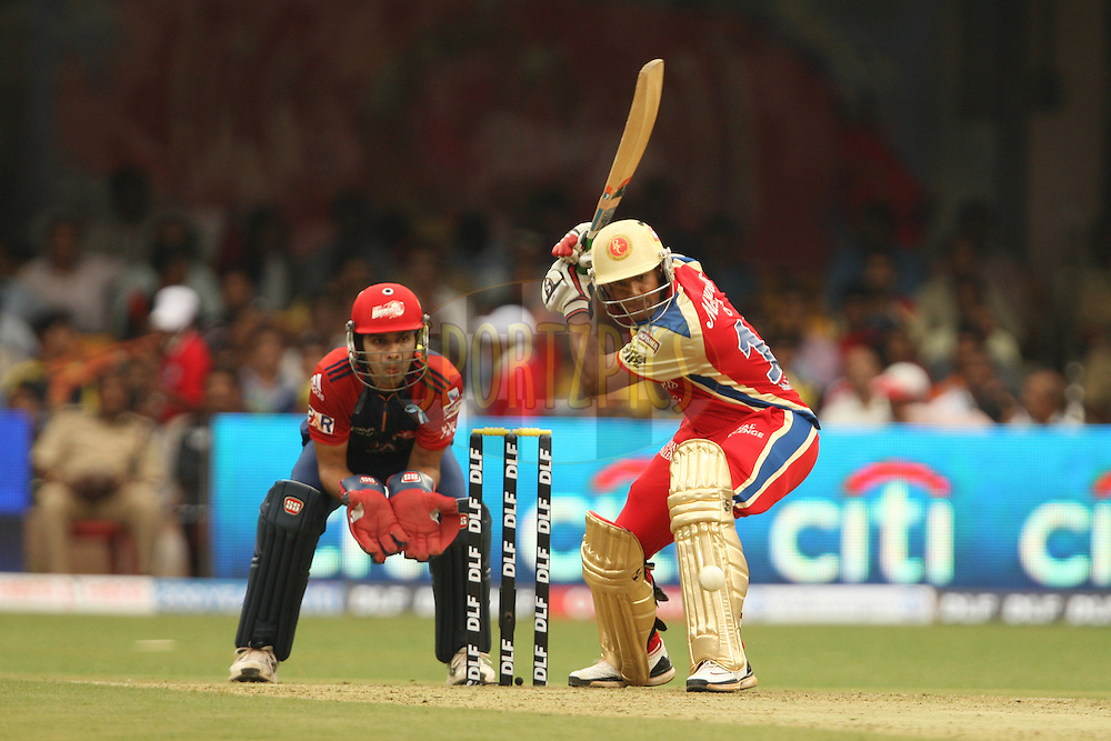 Mayank Agarwal during match 5 of the the Indian Premier League ( IPL) 2012  between The Royal Challengers Bangalore and the Delhi Daredevils  held at the M. Chinnaswamy Stadium, Bengaluru on the 7th April 2012..Photo by Jacques Rossouw/IPL/SPORTZPICS
