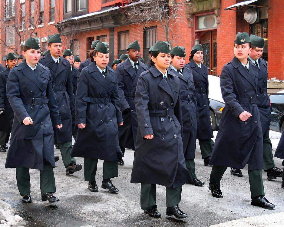 ROTC at the local Brooklyn Saint Patrick's Day Parade.