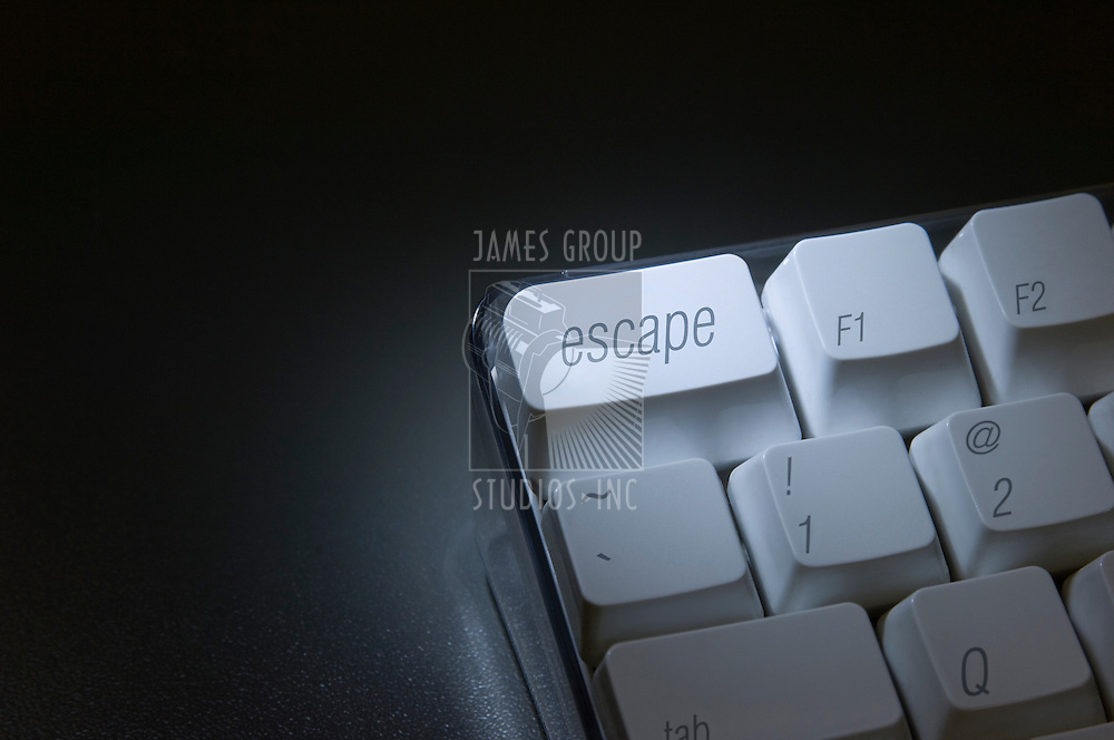 """Closeup of the """"escape"""" key on a computer keyboard"""