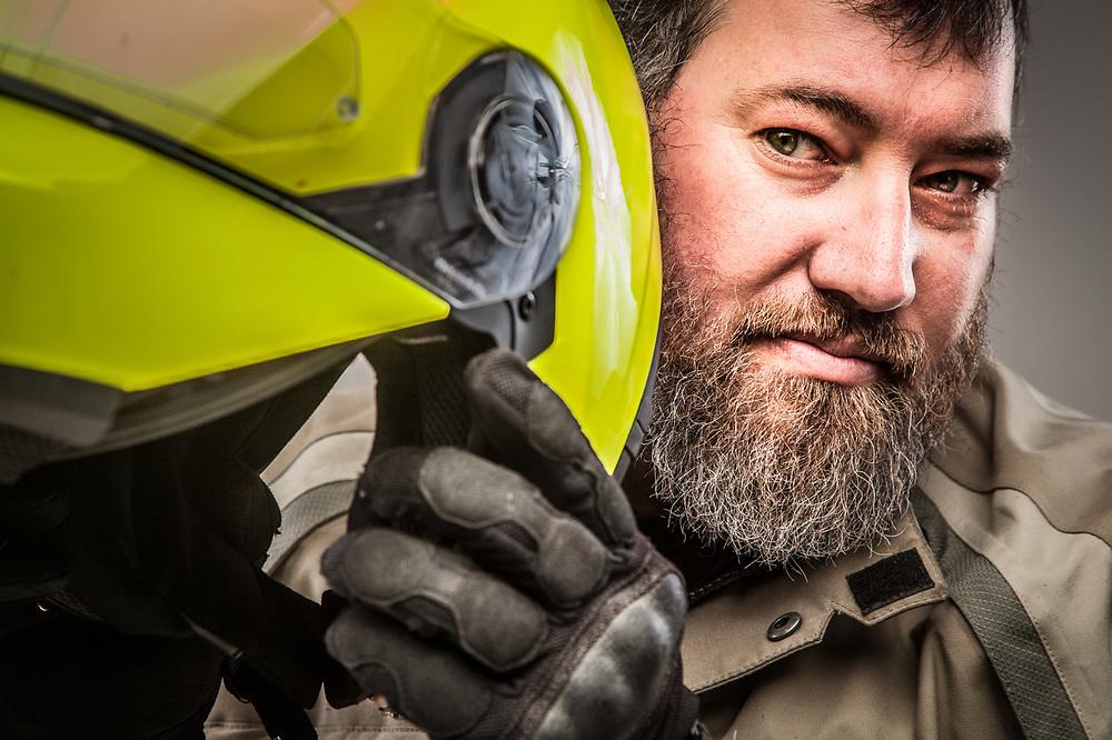 Photographer and motorcyclist, Jim Khol, Anchorage, Alaska