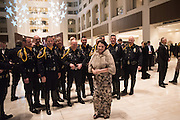 AMY WITH INDIANA MOTORCYCLE COPS, Indiana Inauguration Ball Grand Hyall, Washington. DC . 19 January 2017