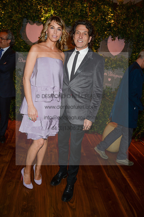 STEPHEN & ASSIA WEBSTER at the Dom Perignon Rose 2002 Dark Jewel launch with Stephen Webster held at The Connaught Hotel, London on 12th June 2013.