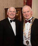 At the SCSI, (Society of Chartered Surveyors Ireland) - Western Region Annual Dinner 2016 in the Ardilaun Hotel Galway were Gabriel Costello, Engineers Ireland Western Chair and Frank Greene Galway Chamber of Comerce. Photo:Andrew Downes, xpousre