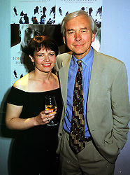 MISS VALERIE SANDERSON and TV & Radio presenter MR JOHN HUMPHRYS, at a party in London on 9th September 1999.MWD 81