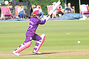 Mignon du Preez batting during the Women's Cricket Super League match between Loughborough Lightning and Western Storm at Haslegrave Ground, Loughborough, United Kingdom on 6 August 2019.
