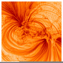 Newly released images of the Sun have revealed that its outer layer is filled with previously unseen, incredibly fine magnetic threads filled with extremely hot, million-degree plasma. The high-resolution observations have been analysed by researchers at UCLan alongside collaborators from NASA's Marshall Space Flight Centre (MSFC) and will provide astronomers with a better understanding of how the Sun's magnetised atmosphere exists, and what it is comprised of.<br /> <br /> Until now, certain parts of the Sun's atmosphere had appeared dark or mostly empty, but new images have revealed strands that are around 500km in width - roughly the distance between London and Belfast - with hot electrified gases flowing inside them.<br /> <br /> The ultra-sharp images were taken by NASA's High-Resolution Coronal Imager (or Hi-C for short), a unique astronomical telescope carried into space on a sub-orbital rocket flight. The telescope can pick out structures in the Sun's atmosphere as small as 70km in size, or around 0.01% the size of the Sun, making these the highest resolution images ever taken of the Sun's atmosphere. MORE COPY AVAILABLE: info@cover-images.com<br /> <br /> When: 16 Apr 2020<br /> Credit: UCLan/Cover Images<br /> <br /> **Editorial use only**