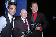Robbie Williams, Matt Lucas and David Walliams. GQ Men Of The Year Awards at the Royal Opera House, London. September 6, 2005 in London, England, ONE TIME USE ONLY - DO NOT ARCHIVE  © Copyright Photograph by Dafydd Jones 66 Stockwell Park Rd. London SW9 0DA Tel 020 7733 0108 www.dafjones.com