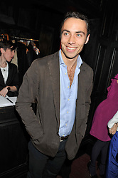 JAMES MIDDLETON at the launch of the Johnnie Walker Blue Label Club held at The Scotch, Mason's Yard, London on 1st May 2012.