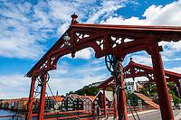 Norway, Sør-Trøndelag, Trondheim. Old Town Bridge. Gamle Bybro or Bybroa in Norwegian. Constructed in 1681.