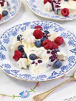 Motiv: Dessert Blåbär<br /> Recept: Katarina Carlgren<br /> Fotograf: Thomas Carlgren<br /> Användningsrätt: Publ en gång i Desserttidning<br /> Annan publicering kontakta fotografen