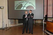 """BOLOGNA, 22/02/2009<br /> FEDERAZIONE ITALIANA PALLACANESTRO PREMIO <br /> PREMIO """"ITALIA BASKET HALL OF FAME""""<br /> NELLA FOTO ALDO VITALE DAN PETERSON"""