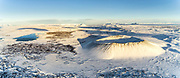 aearial photography over Iceland Hverfell