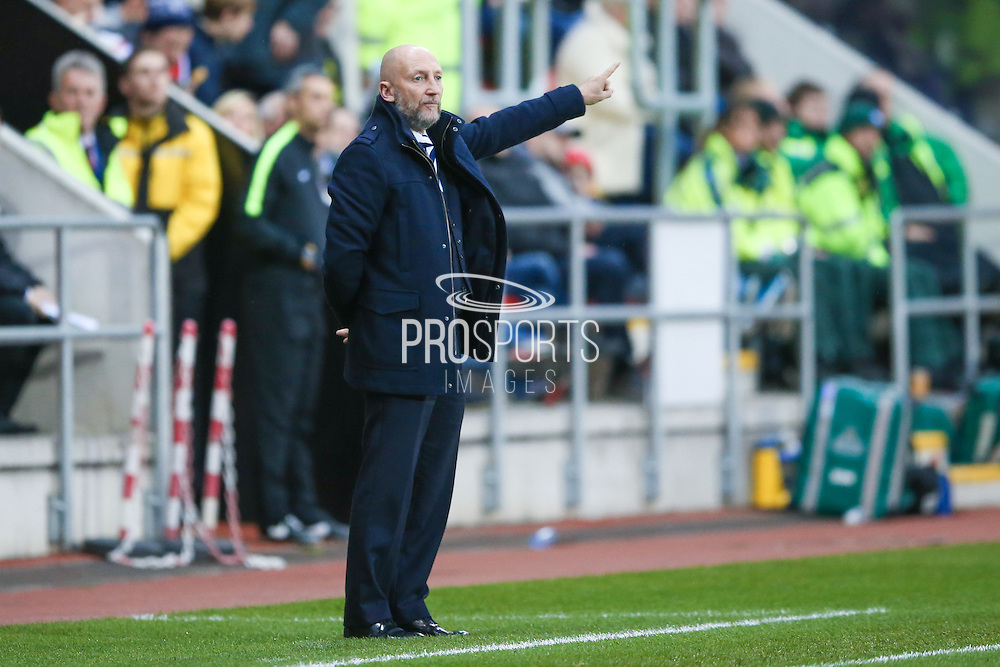 Queens Park Rangers Manager Ian Holloway  during the EFL Sky Bet Championship match between Rotherham United and Queens Park Rangers at the New York Stadium, Rotherham, England on 10 December 2016. Photo by Simon Davies.